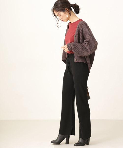 秋冬だけのお楽しみ♡最新ニットパンツ&スカートのコーディネート20選